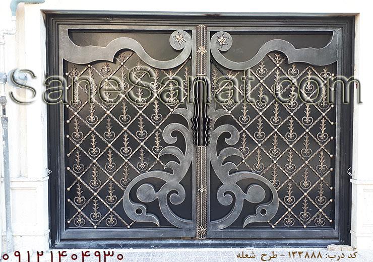 نمونه کار درب لوکس در خیابان پیروزی تهران - درب پارکینگ لوکس www.SaneSanat.com | 09121404930