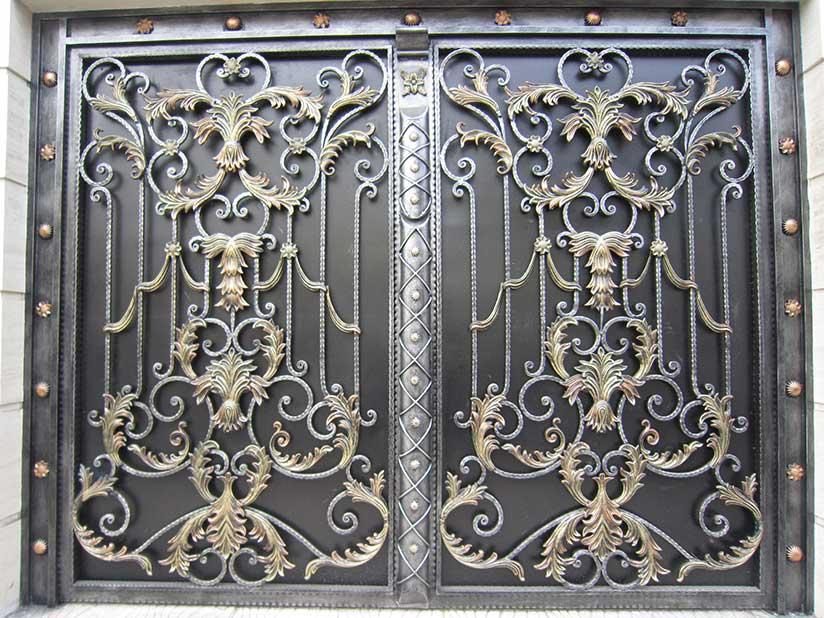 مدل درب زیبای فرفورژه برای درب خانه، درب شرکت و درب ساختمان www.SaneSanat.com