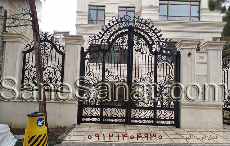 درب فلزی زیبا برای درب ساختمان و درب حیاط