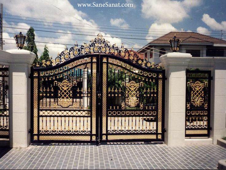 تولیدکننده انواع درب ورودی ساختمان برای درب حیاط و درب پارکینگ - درب لوکس ساختمان 09121404930